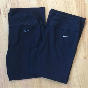Two pair Nike cropped athletic pants